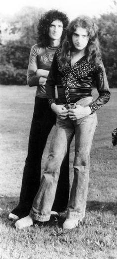 Brian and John at Ridge Farm - 1975