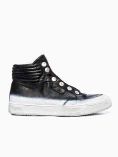 Leather sneakers from the S/S 2014 BB Bruno Bordese collection in black.