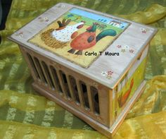 Caixa Ovos - Galináceos carlartesmanuais.blogspot.com/