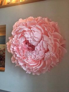 Large crepe paper flowers / Giant paper flowers / Wedding decoration / Home decor / Wall decor / Large paper flowers / Large peony / Backdrob flowers - A fantastic paper flower for your home. It will make the beauty of your room, office, living room. Large Paper Flowers, Paper Flowers Wedding, Tissue Paper Flowers, Paper Flower Wall, Giant Paper Flowers, Flower Wall Decor, Diy Flowers, Flower Decorations, Fabric Flowers