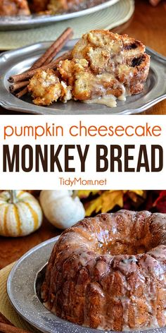 This PUMPKIN MONKEY BREAD recipe is all gussied up for autumn with pumpkin, fall spices, and a sweet maple glaze. Perfect fall breakfast or dessert. Print full recipe at TidyMom.net Pumpkin Pie Mix, Pumpkin Dessert, Pumpkin Cheesecake, Pumpkin Spice, Cheesecake Recipes, Pumpkin Monkey Bread Recipe, Pumpkin Recipes, Fall Recipes, Monkey Bread Easy