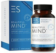 100% Natural Memory Supplement & Nootropics Stack - Includes Ginkgo Biloba Extract, St John's Wort, Bacopa & More. Improves Memory, Supports Focus & Clears Brain Fog. Smart Pill Made in USA. Rating 4.4 out of 5 stars, 44 customer reviews