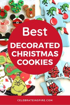 The Best Decorated Christmas Cookies - Celebrate and Inspire Christmas Appetizers, Christmas Parties, Christmas Games, All Things Christmas, Christmas Holidays, Christmas Wreaths, Christmas Crafts, Christmas Decorations, Christmas Tree