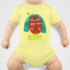 H O W G H  #illustrated #Onesie for #baby by #Anne_Wenkel // Illustration & Fine Art - $20.00