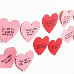 DIY daily love notes left for your kids leading up to Valentine's Day