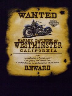 Is  it time to add to your #HarleyDavidson shirt collection? If yes then grab this Black shirt from Westminster CA which reminds you about the delinquency of Adults! #www.nycfintessfamilyfinds.net