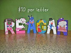 Doc McStuffins Character Letter Art on Etsy, $10.00