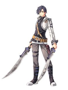 Joshua Astray - Eiyuu Densetsu VI: Sora no Kiseki - Image - Zerochan Anime Image Board Fantasy Character Design, Character Design Inspiration, Character Concept, Character Art, Trails Of Cold Steel, Anime Krieger, Rwby Oc, The Legend Of Heroes, Anime Weapons