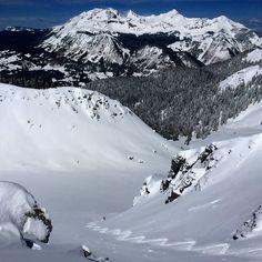 T-bone getting the end of April powder #skicolorado @alpenglowskisafaris