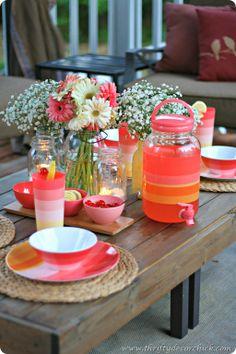 summer outdoor tablescape