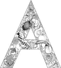 La Letra A Dibujo para colorear