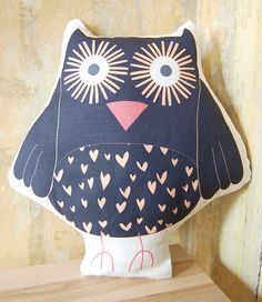printed owl plush