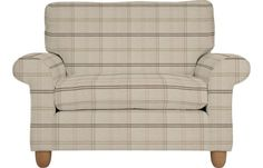 Laura Ashley Abingdon snuggler in Hinton check natural Outdoor Chairs, Outdoor Furniture, Outdoor Decor, Sofa Chair, Armchair, Laura Ashley Usa, Home Furnishings, Beautiful Homes, Sofas