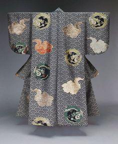 Japanese Noh costume, Meiji era (19th century). MFA. Via...