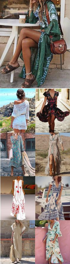38 trendy Ideas for fashion boho winter summer outfits Fashion Week, Look Fashion, Womens Fashion, Fashion Design, Fashion Trends, Böhmisches Outfit, Abaya Style, Mode Boho, New Arrival Dress