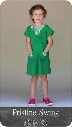 Pristine Swing Dress PDF Pattern Girls by BlankSlatePatterns, $8.45