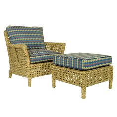 The Javier Club Chair.  Water Hyacinth, from Walters Wicker Interior Collection.