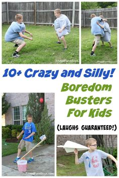 10+ Crazy and Silly Boredom Busters for Kids - Sumo wrestling, jumbo paper airplanes, rainbow bubble snakes, and more! Love these ideas!