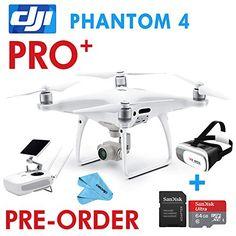 DJI Phantom 4 Pro   PLUS, DRONE w/ Gimbal Camera 1″ CMOS Sensor 4K   5.5″ DISPLAY,3D VR,64G SD