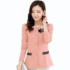 2016 Fashionable Ladies Blazers Jackets 2016 Plus Size 5xl Women Suits Blazer…