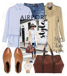 """""""Airport Style"""" by laurabosch on Polyvore featuring ..,MERCI, AG Adriano Goldschmied, Victoria, Victoria Beckham, Dune, Bottega Veneta, CLUSE and airportstyle"""