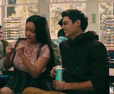 I dont know what Lara Jean is doing but I think Peter and I both agree that she looks cute doing it. Lara Jean, Love Movie, I Movie, Peter K, Jean Peters, Jenny Han, Young Love, Boyfriend Goals, Netflix Movies
