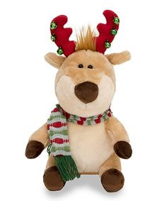 andy antlers reindeer animated plush toy zulily zulilyfinds - Christmas Plush Toys