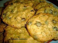 Betty's Cuisine: Μπισκότα βρώμης με σταγόνες σοκολάτας