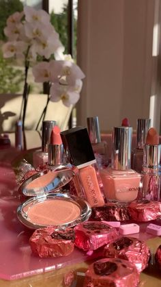 Pretty in pink this spring! Shop the whole collection now at nudeenvie.com Nude Lipstick, Lipstick Shades, Makeup Set, Pretty In Pink, Table Decorations, Spring, Shop, Collection, Envy