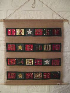 Christmas Advent Calendar Handmade Hessian Burlap by Daisydoodling