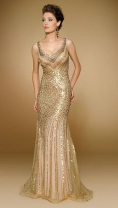 Strapless Beaded Silk Chiffon evening gown with illusion and matching Shawl
