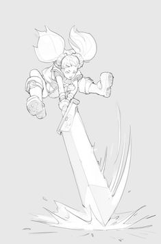 Manga Character Drawing Cute character Thumbs up to the artist Drawing Reference Poses, Drawing Poses, Drawing Sketches, Art Drawings, Sword Reference, Poses References, Art Et Illustration, Art Poses, Character Drawing