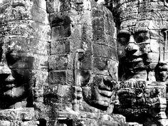 Faces, Bayon Temple, Siem Reap, Cambodia.
