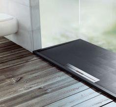 Piatto doccia Fiora Avant - esempio ambientazione 1 effetto ardesia, pietra, cemento - EDILVETTA Verona