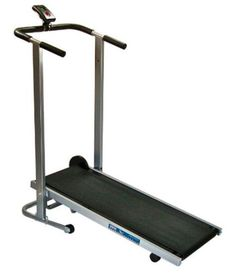 Home Trainer Phoenix 98516 Easy Up Manual Treadmill - 2 Days Shipping Manual treadmill with heavy-duty weighted flywheel and 41.5-by-13.5-inch belt Single-button electronics display tracks speed, distance, time, and calories Lets you achieve maximum walking/jogging speed via self-powered workout Folds and locks in upright position for storage 250-pound maximum weight limit Measures 46 x 50 x 21 inches (W x H x D) 1-year frame warranty Phoenix 98516 Easy-Up Manual Treadmill An economical yet…
