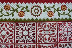 Sue Garman: Mix and match patterns where ever you think you need them all around your applique or colored pieces for those to pop.