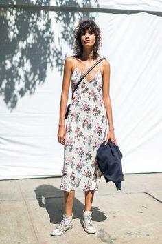 Mica Argañaraz durante la semana de moda de Nueva York S/S17