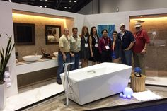 The IDS team celebrates a job well done at the final reveal! #Coverings2015