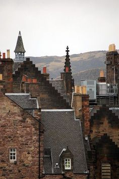 Rooftops, Edinburgh, Scotland photo via ash