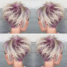 Textured Stacked Haircuts for Short Hair - Balayage Hairstyles for Women Fine Hair - June 29 2019 at Popular Short Hairstyles, Bob Hairstyles For Fine Hair, Layered Bob Hairstyles, Haircuts For Fine Hair, Haircut For Thick Hair, Spring Hairstyles, Pixie Hairstyles, Short Haircuts, Haircut Short