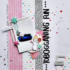 You can find @scrappinswewi on the blog today sharing this layout for #take5tuesday.  Looks like fun!