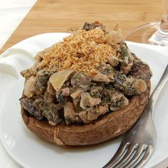 Stuffed Portobello Mushrooms with Spinach and Goat Cheese