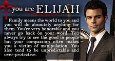 Which the original character are you? Elijah