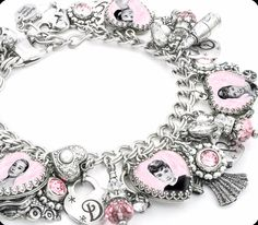 Audrey Hepburn Jewelry, Audrey Hepburn Charm Bracelet - Blackberry Designs Jewelry