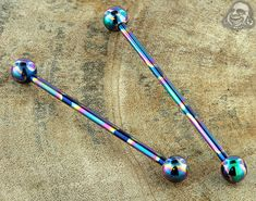 Internally threaded oilslick industrial barbell