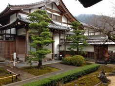 A traditional Japanese house in Kyoto, Japan
