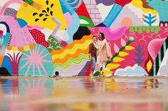 The Abstract Happy Beach Wall—Address: 800 Chartres St., Houston, TX The Abstract Happy Beach Wall—Address: 800 Chartres St., Houston, TX Where Well Houston Mural Graffiti Art, Murals Street Art, Mural Wall Art, Mural Painting, Art Walls, Houston Murals, Houston Tx, School Murals, Illustration
