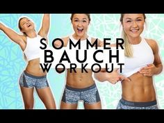 ♥HOME BIKINI BAUCH Workout♥ | FIT für den Sommer | Sophia Thiel - YouTube