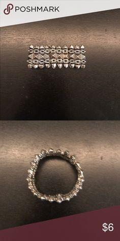 Silver Tribal Bracelet Stretchy, tribal designed bracelet. Worn once. Jewelry Bracelets