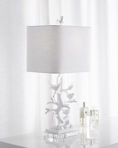 White Bird-on-Branch Lamp at Horchow.